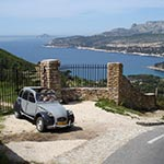Votage en 2cv sur la cote en france avec Planet ride