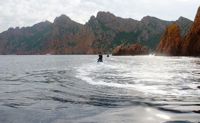 Les iles sanguinaires lors de votre voyage en corse en jet ski avec Planet Ride