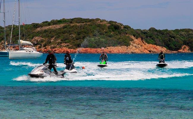 Vos jet-ski lors de votre voyage avec Planet ride en Jet-ski en corse