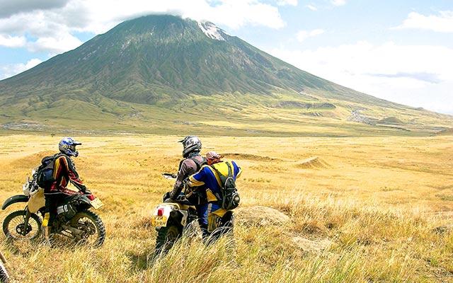 Volcan lors de votre voyage en moto avec PLanet Ride