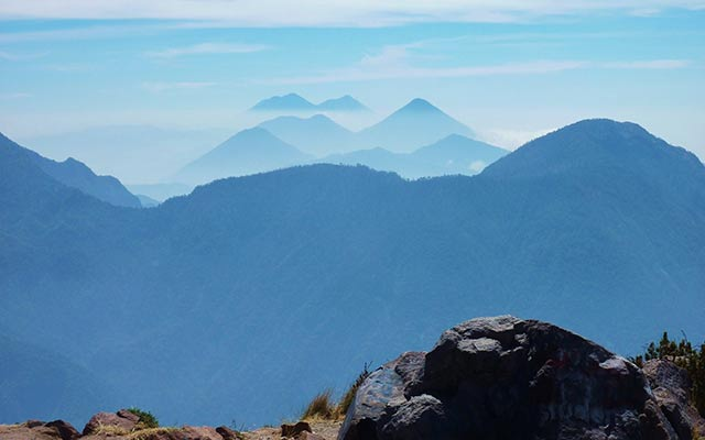 Mountains on your trip to Guatemala on motorbike with planet ride