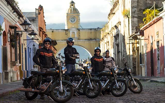 voyage moto guatemala en royal enfield au guatemala avec Planet Ride