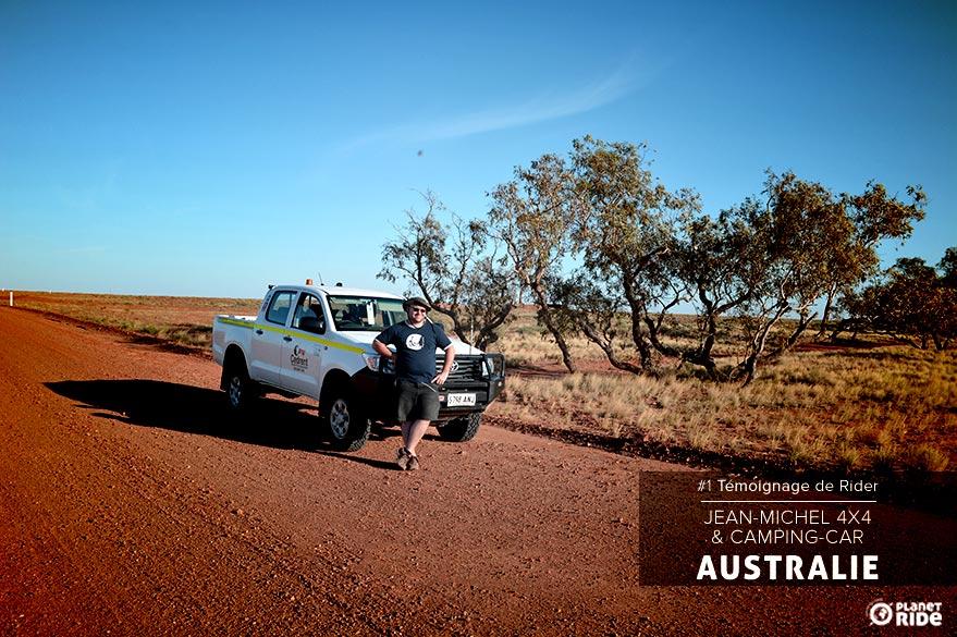 Planet Ride témoignage rider 4x4 camping-car australie