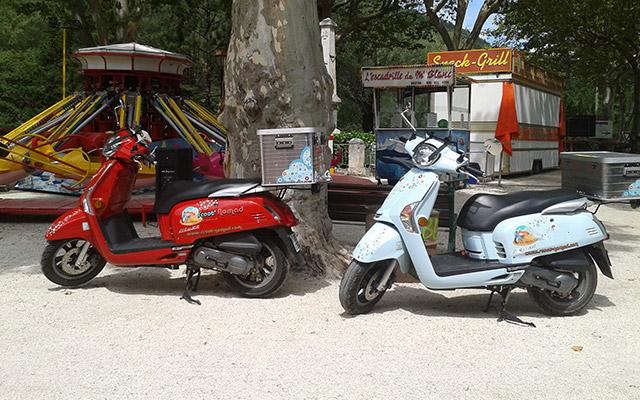 Votre scooter lors de votre voyage en provence avec Planet Ride