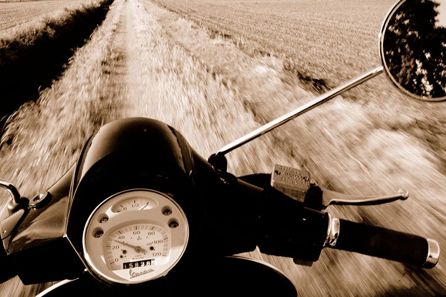 The Vespa on the roads with Planet Ride