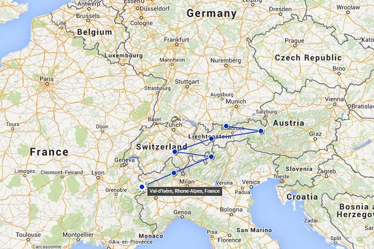 VOyage à moto en europe, itinéraire dans les alpes Planet Ride