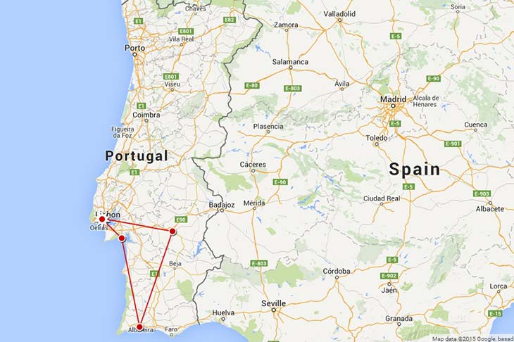 Motorcycle trip to Europe, itinerary to Portugal Planet Ride
