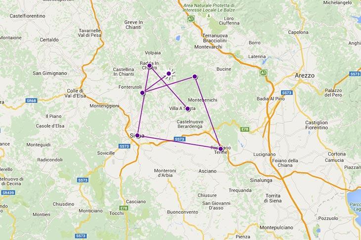 Voyage à moto en europe, itinéraire en Toscane Planet Ride