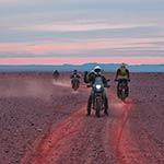 circuit moto au maroc couché soleil