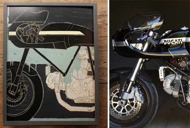 Christopher Myott - Les peintures de moto Legorro Los Angeles