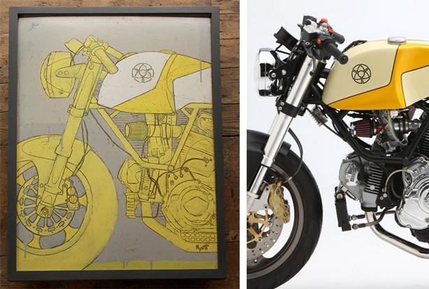 Peintures de Moto de Chrisotpher Myott - Legerro NYC