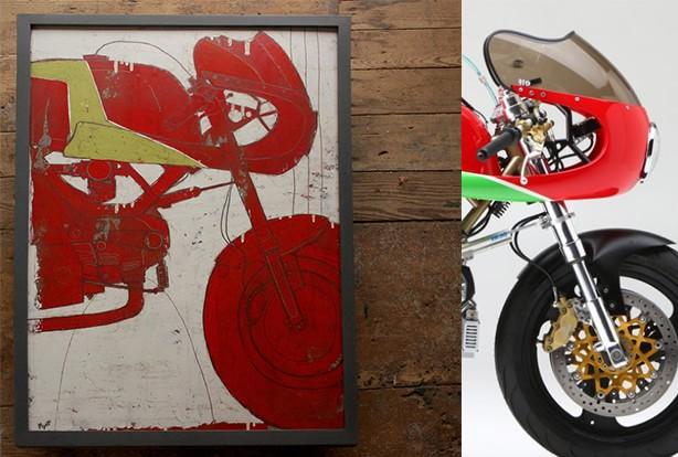 Peinture de moto de Christopher Myott - Leggero Manhattan