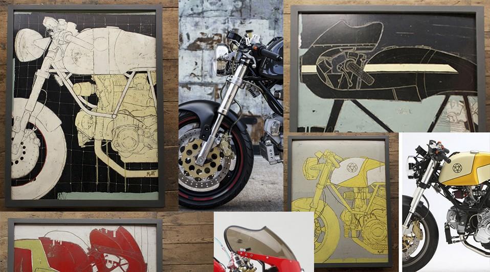 Peintures de moto de Christopher Myott – sur le projet de moto custom de Wat Siegl : Leggero