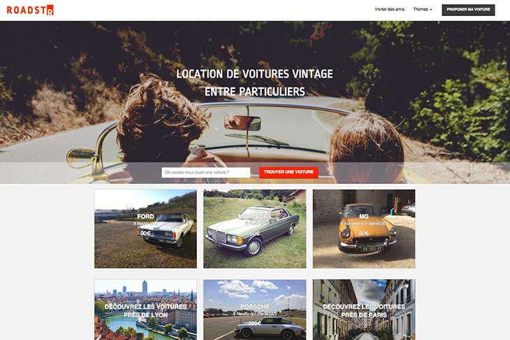 Planet Ride Roastr location de voiture de collection entre particuliers