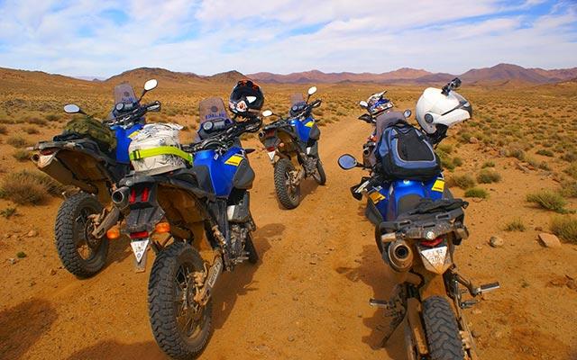 vos moto yamaha lors de votre voyage au maroc avec Planet Ride