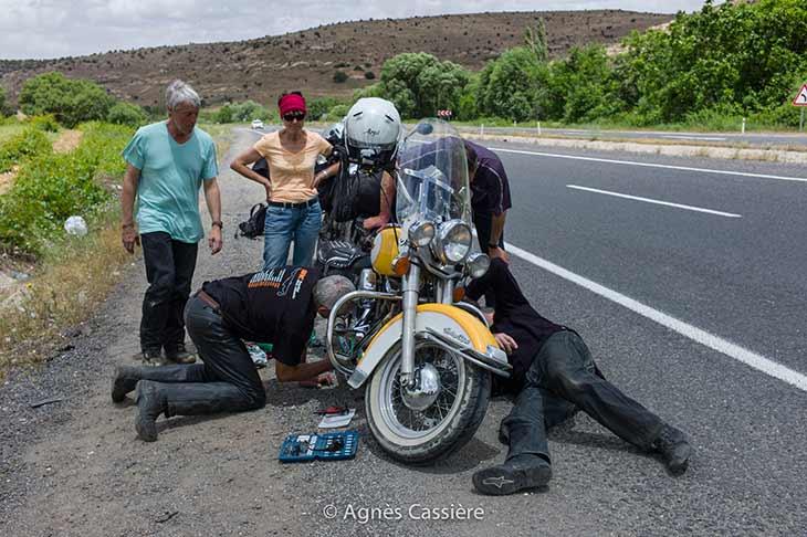 témoignage de voyage agnès en moto en turquie Planet Ride