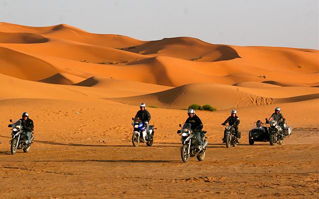 voyage moto au maroc et moto side-car