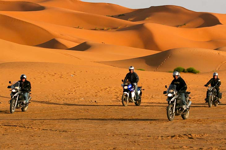 Travel Planet ride Morocco motorbike 4x4 motorhome