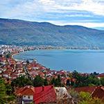 voyage à moto Ohrid balkan roumanie