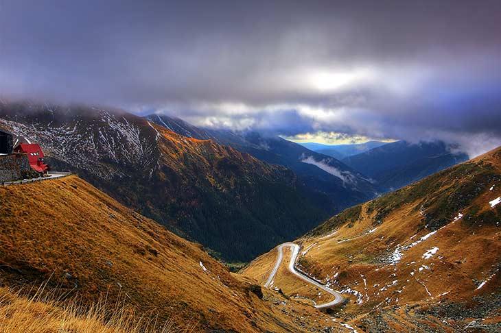 la plus belle route de la semaine en roumanie avec Planet ride