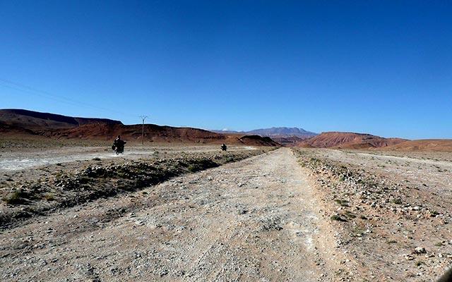 circuit desert maroc en moto