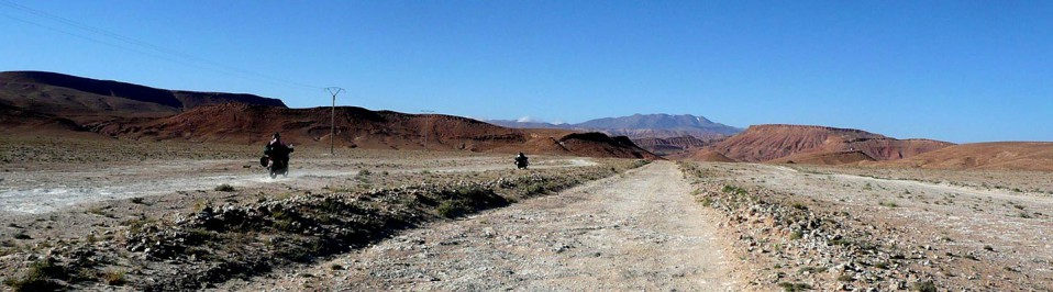moto desert maroc
