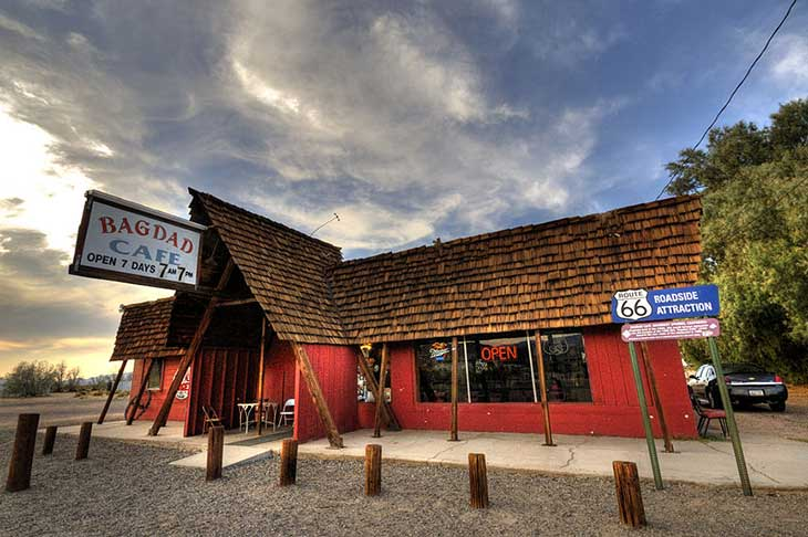 Voyage aux Etats-Unis cafe bagdad Planet Ride