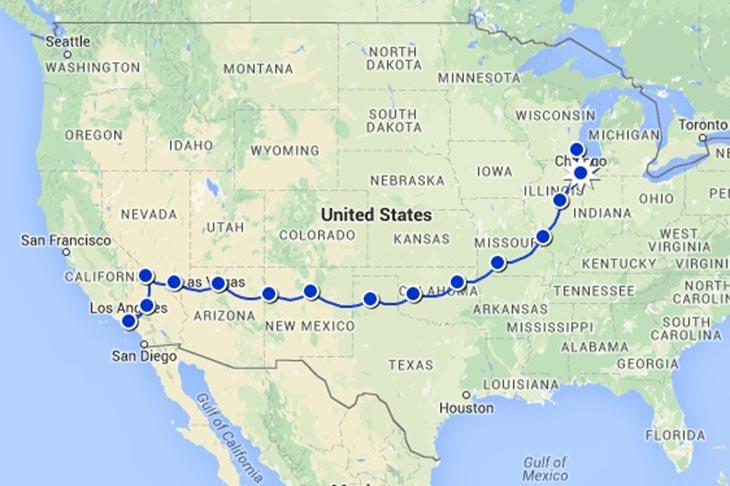 Voyage aux Etats-Unis sur la route 66 circuit Planet Ride