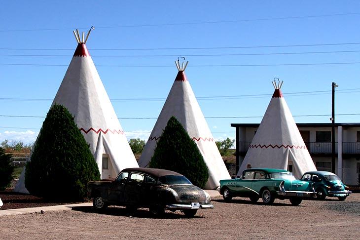 Voyage aux Etats-Unis sur la route 66 motels tipi avec Planet Ride