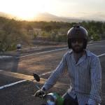 voyage en scooter à Bali Planet ride en scooter au coucher du soleil