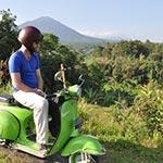 voyage en scooter à Bali Planet ride scooter végétation et volcans de Bali