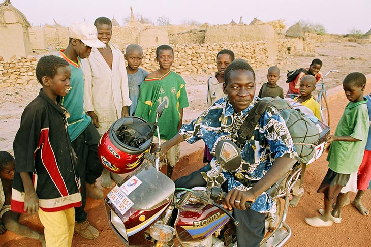 Motorcycle trip to Africa Fabrice Busst Planet Ride
