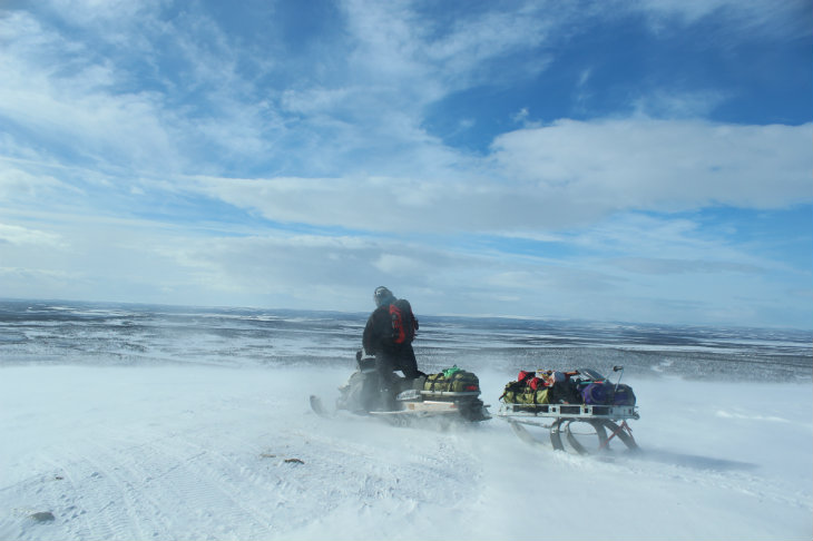 Raid motoneige Laponie Halti Planet Ride