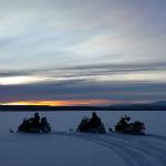 Laponie en motoneige