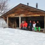 départ de voyage motoneige depuis la Laponie