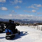 Montagne Saint Brigitte en motoneige