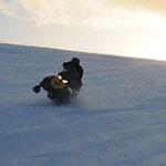 raid motoneige laponie sur les monts glace