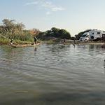 mauritanie aventure en camping car pirogue