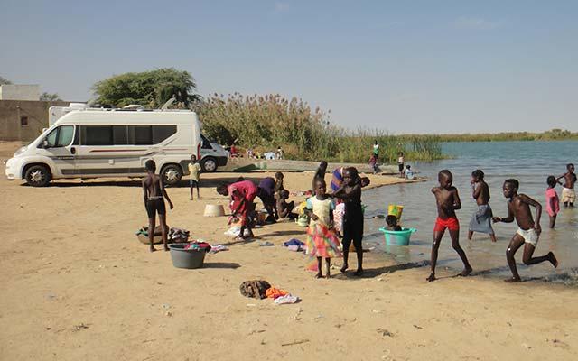 mauritanie aventure en camping car fleuve du sénégal