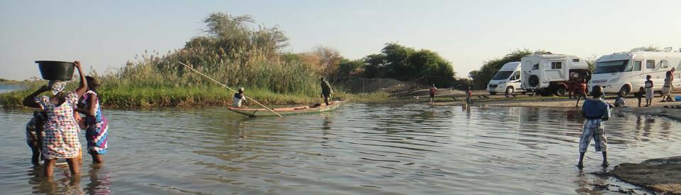 voyage en mauritanie en camping-car planet ride pirogue