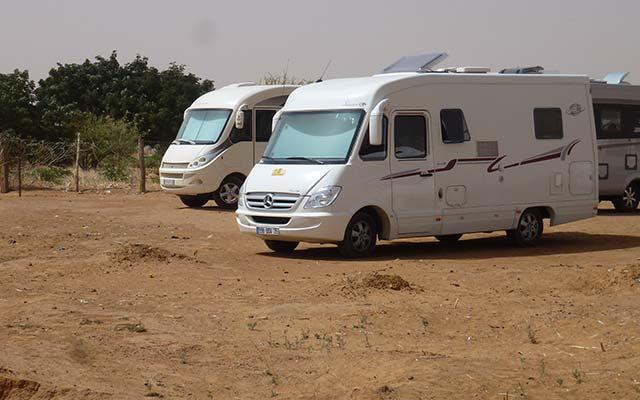 séjour mauritanie en camping car véhicules