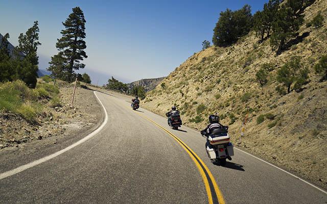 en route pour Yosemite en Harley