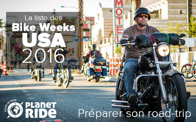 evenement moto USA : toutes les bike weeks de 2016