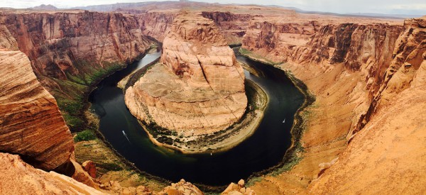 Le tournant Hhorseshoe bend au Grand Canyon avec Planet Ride