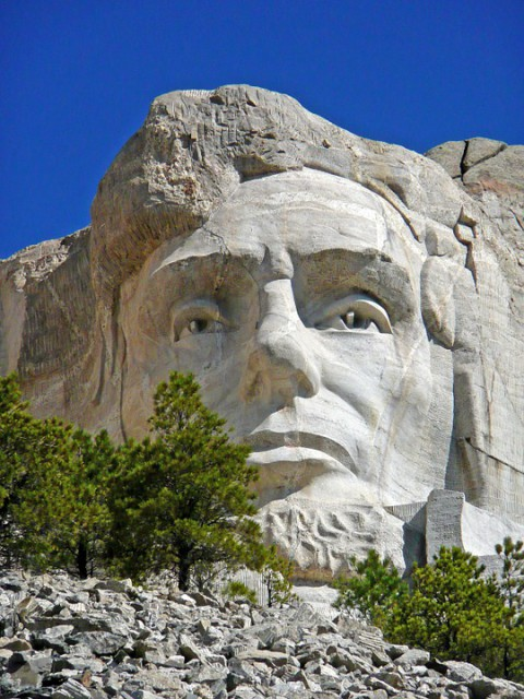 roadtrip usa : Visite du mont Rushmore-- Abraham Lincoln