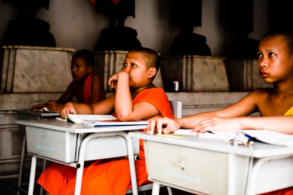 Photo at the school of monks by Jon Samwell