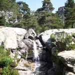 voyage en camping car en France Vizzavone cascade