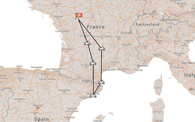 Voyage moto France - Espagne : rejoindrele MotoGP de Catalogne avec un groupe de motards