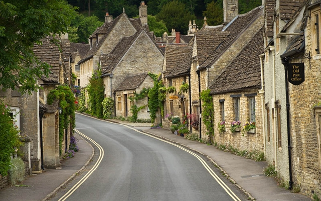 angleterre en camping car village architecture