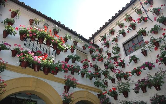 planet ride voyage voiture andalousie cordoue architecture façades fleurs